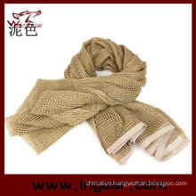 Multifunctional Tactical Scarf Scrim Scarf Airsoft Scarf Headwear Scarf Tan